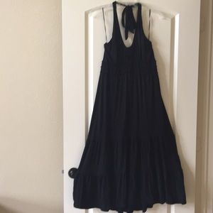 Sangria Halter Style Midi Dress